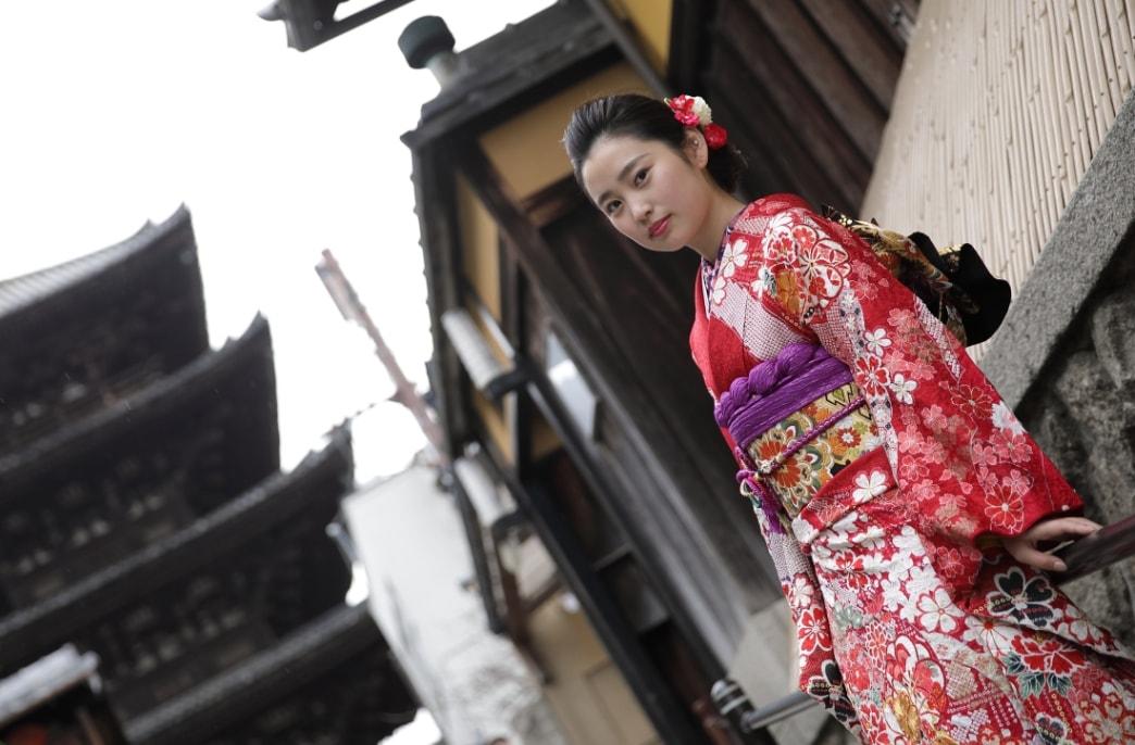 七五三に京都清水寺周辺で着物撮影