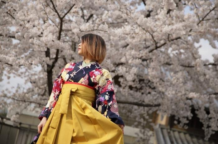 入園・入学・卒業に京都清水寺周辺で振袖撮影
