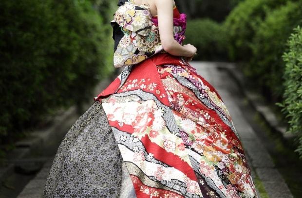 高級振袖ドレスで前撮り/後撮り