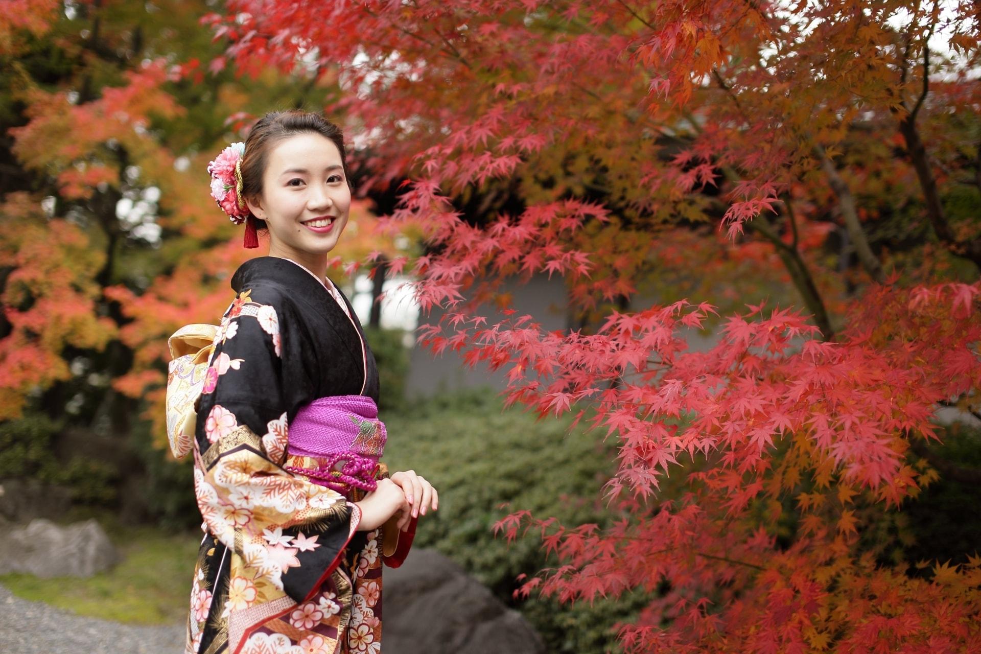 京都着物で心に残る写真撮影