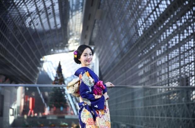 京都駅でロケーション撮影