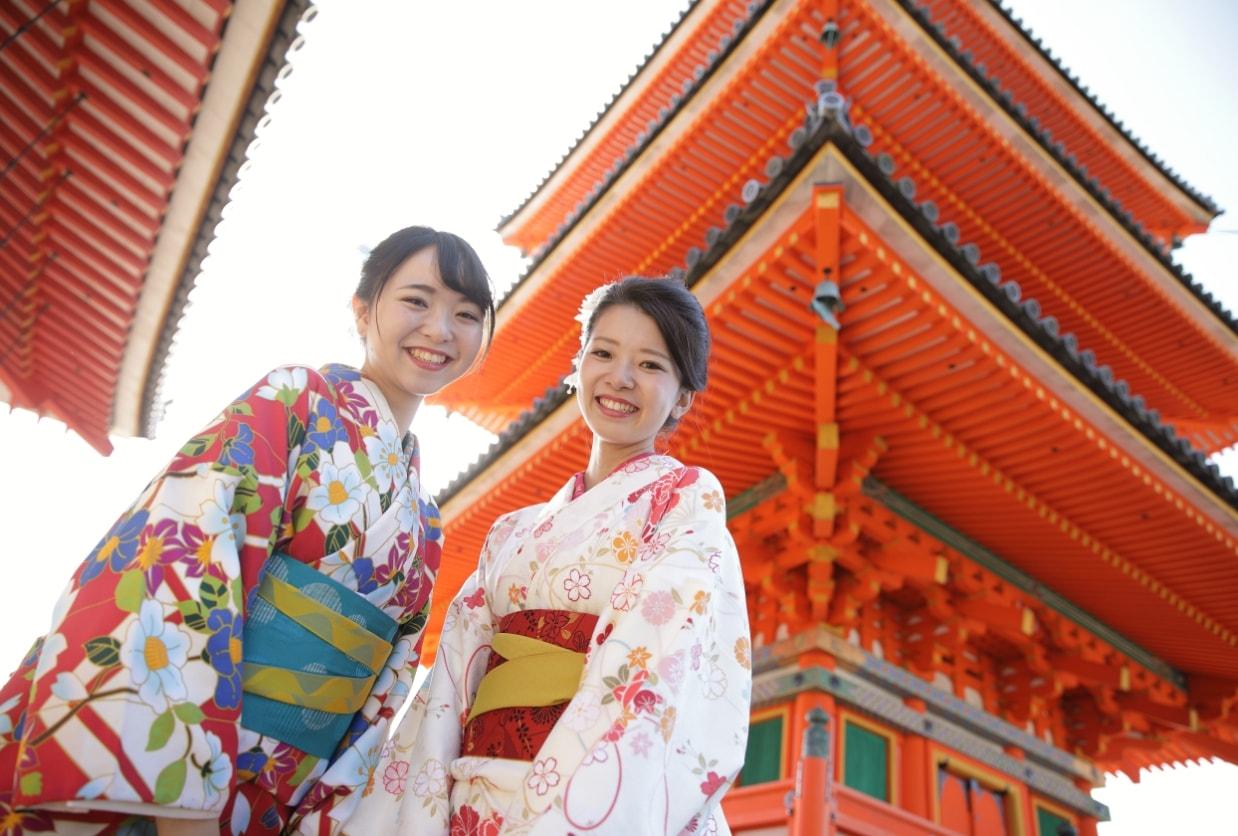 和華のレンタル着物とレンタル浴衣で京都観光